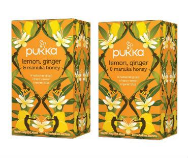 Pukka Lemon, Ginger & Manuka Honey Te EKO. 20 påsar, 2-PACK