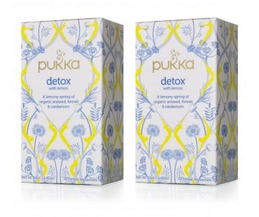 Pukka Detox Lemon te EKO. 20 påsar, 2-PACK