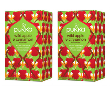 Pukka Wild Apple & Cinnamon Te EKO. 20 påsar, 2-PACK