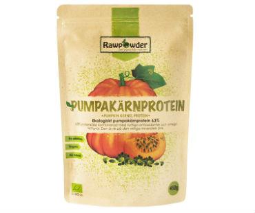 Pumpakärnsprotein 63% EKO, Rawpowder. 450 g