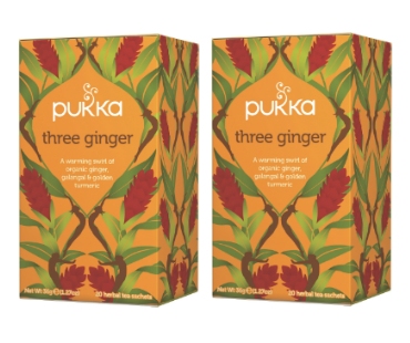 Pukka Three Ginger Te EKO. 20 påsar, 2-PACK