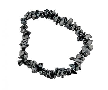 Obsidian - enkelt armband - mineralsten - Identitet