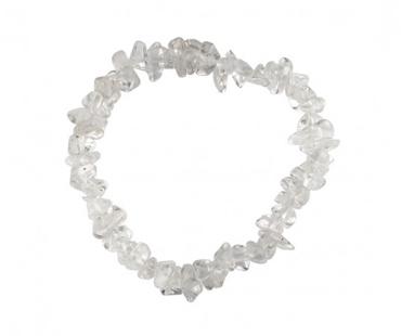 Bergskristall enkelt armband, mineralsten - Klarhet