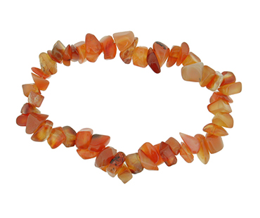 Carneol - enkelt armband - mineralsten - Inspiration