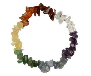 Chakra - enkelt armband - mineralsten