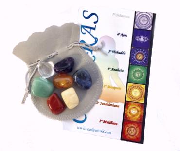 Chakrastenar med påse