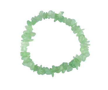 Grön aventurin  - enkelt armband - mineralsten - Stress