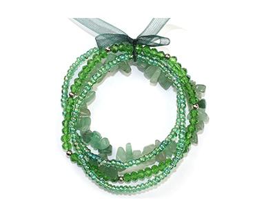 Grön aventurin - flera armband - mineralsten och pärlor - Stress