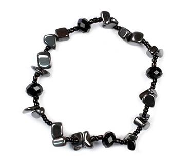 Hematit - mix med pärlor enkelt armband - mineralsten - Minne