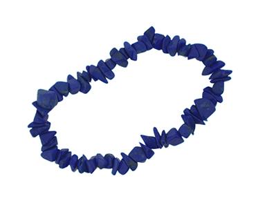 Blå Howlite enkelt armband, mineralsten - Kommunikation