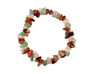 Multicolor - enkelt armband - mineralsten - Balans