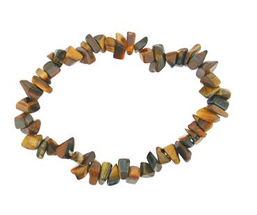Tigeröga - enkelt armband - mineralsten - Optimism