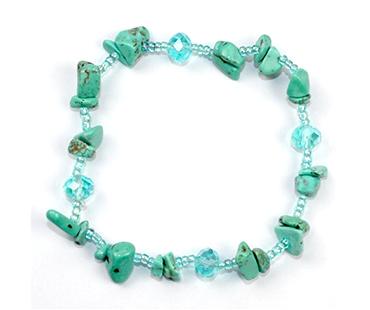 Turquenite - enkelt armband - mineralsten och pärlor - Kreativitet