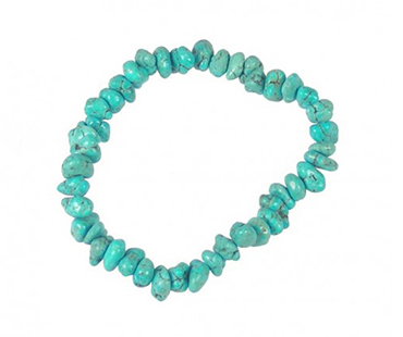 Turquenite - enkelt armband - mineralsten - Kreativitet
