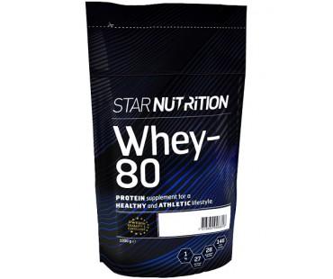 Whey-80 vassleprotein Banan, Star nutrition. 1 kg
