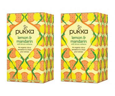 Pukka Lemon & Mandarin Te EKO. 20 påsar, 2-PACK