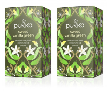 Pukka Sweet Vanilla Green Te EKO. 20 påsar, 2-PACK