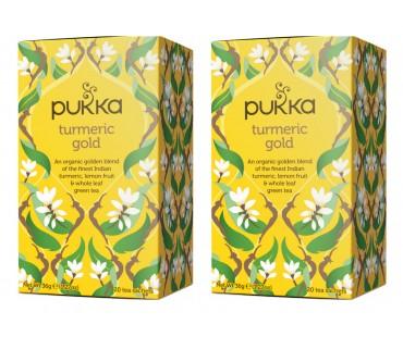 Pukka Turmeric Gold Te EKO. 20 påsar, 2-PACK