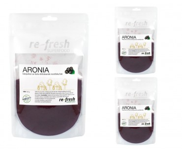 Aroniapulver, Re-fresh Superfood. 125 g, 3-PACK