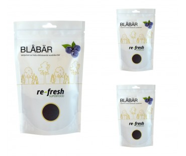 Blåbärspulver, Re-fresh Superfood. 125 g, 3-PACK