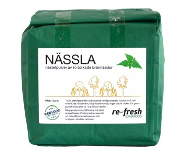Nässelpulver, Re-fresh Superfood. 1 kg