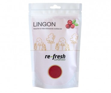 Lingonpulver, Re-fresh Superfood. 125 g