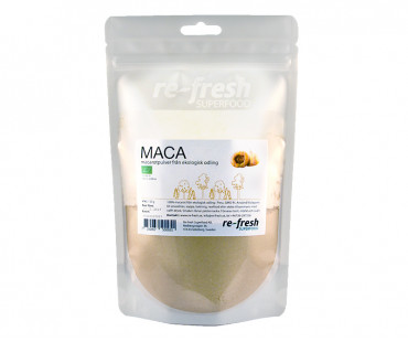 Macapulver EKO, Re-fresh Superfood. 150 g PASSERAT BÄST FÖRE