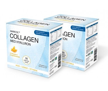 Collagen Hyaluron + C-vitamin, Re-fresh Superfood. Box med 30 sticks, 2-PACK