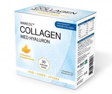 Collagen Hyaluron + C-vitamin, Re-fresh Superfood. Box med 30 sticks