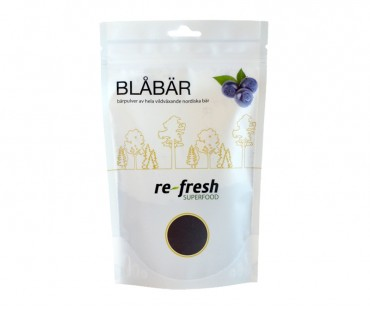 Blåbärspulver, Re-fresh Superfood. 125 g