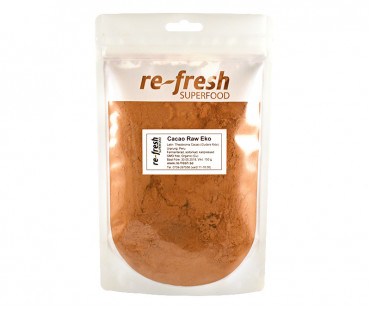 Kakaopulver Raw & EKO, Re-fresh Superfood. 150 g KORT DATUM