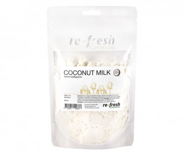 Coconut Milk Powder, kokosmjölkpulver, Re-fresh Superfood. 150 g KORT DATUM