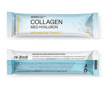 Collagen med Hyaluron och C-vitamin, 30 sticks 2-PACK