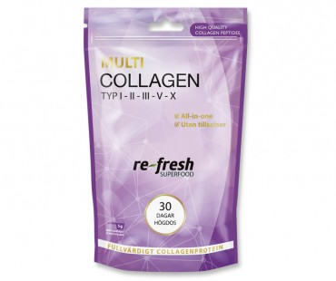 Multi Collagen, Re-fresh Superfood. 30 dagar högdos
