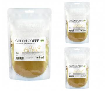 Green Coffee Powder, Re-fresh Superfood. 125g, 3-PACK