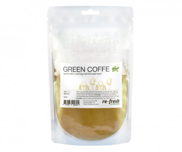 Green Coffee Powder, Re-fresh Superfood. 125g