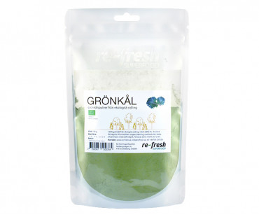Grönkålspulver EKO, Re-fresh Superfood. 150 g