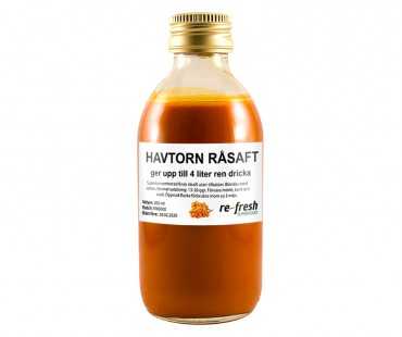 Havtorn Råsaft Superkoncentrat, Re-fresh Superfood. 1000 ml - ger ca 20 l ren havtornsjuice