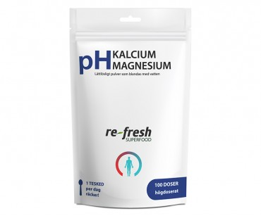 pH-Kalcium + Magnesium, Re-fresh Superfood. 300 g