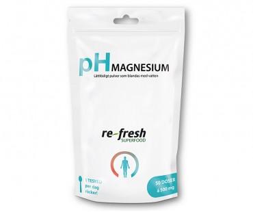 pH-pulver magnesium, Re-fresh Superfood. 100 g
