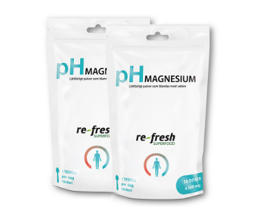 pH-pulver magnesium, Re-fresh Superfood. 100g, 2-PACK