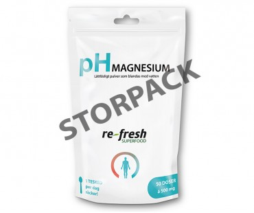 pH-pulver magnesium, Re-fresh Superfood. 400 g - STORPACK