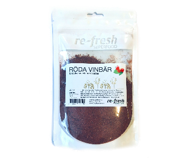 Röda vinbär, Re-fresh Superfood. 125 g