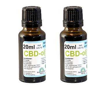 CBD olja, Scandinavian Hemp. 400 mg - 20 ml, Mynta 2-PACK