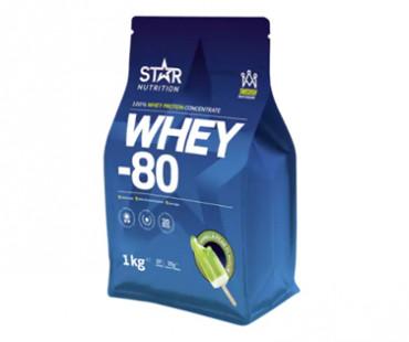 WHEY-80 Vassleprotein päron/vanilj, Star nurtition. 1 kg