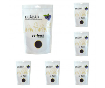 Blåbärspulver, Re-fresh Superfood. 125 g, 6-PACK!