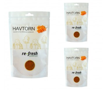 Havtornspulver, Re-fresh Superfood. 125 g, 3-PACK