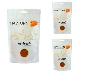 Havtornspulver, Re-fresh Superfood. 125 g, 3-PACK