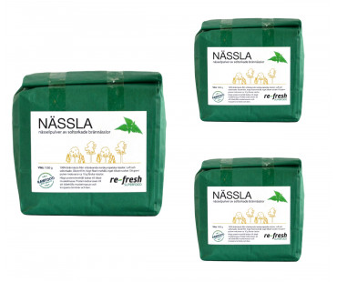Nässelpulver, Re-fresh Superfood. 1kg, 3-PACK