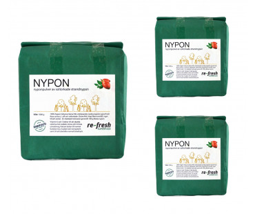 Nyponpulver, Re-fresh Superfood. 1 kg, 3-PACK